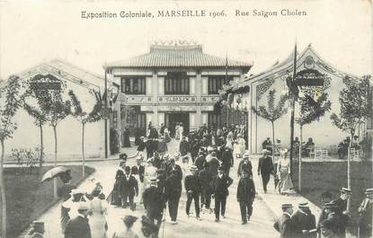 "CPA FRANCE 13 ""Marseille, exposition coloniale, rue Saïgon Cholen"""