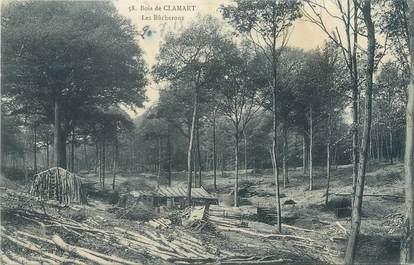 """CPA FRANCE 92 """"Bois de Clamart, les bûcherons"""""""