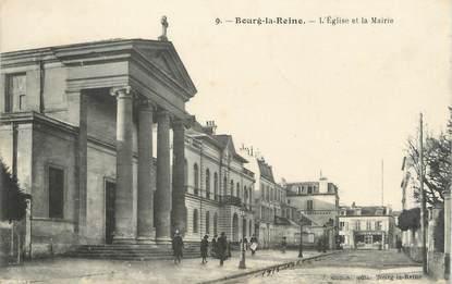 """CPA FRANCE 92 """"Bourg La Reine, l'église et la mairie"""""""