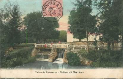 """CPA FRANCE 91 """"Vallée de Chevreuse, château de Mauvières"""" / CACHET AMBULANT"""