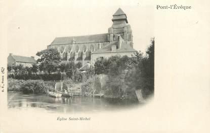 """CPA FRANCE 14 """"Pont l'Evêque, église saint Michel """""""