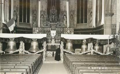 """CARTE PHOTO CLOCHE """"Baptême de cloches 1932"""""""
