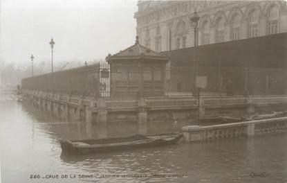 """CPA FRANCE 75 """"Paris Inondation 1910, quai d'Orsay"""" / Ed. ELECTROPHOT"""
