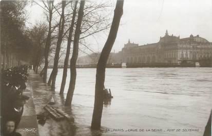 "CPA FRANCE 75 ""Paris Inondation 1910, pont de Solferino"" / Ed. ELECTROPHOT"