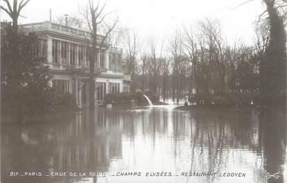 "CPA FRANCE 75 ""Paris Inondation 1910, champs Elysées, restaurant Ledoyen"" / Ed. ELECTROPHOT"
