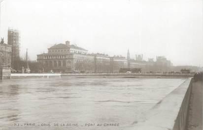 """CPA FRANCE 75 """"Paris Inondation 1910, pont au change"""" / Ed. ELECTROPHOT"""