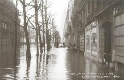"CPA FRANCE 75 ""Paris Inondation 1910, boulevard Haussmann"" / Ed. ELECTROPHOT"