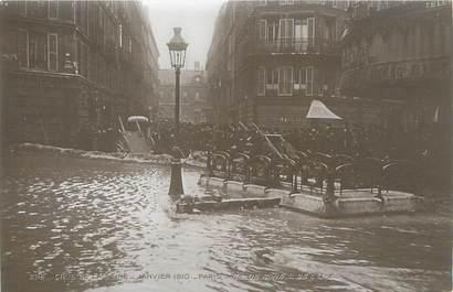 """CPA FRANCE 75 """"Paris Inondation 1910, rue de Rome et de l'Isly"""" / Ed. ELECTROPHOT"""
