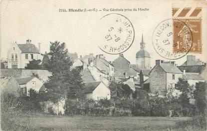 """CPA FRANCE 35 """"Iffandic, vue générale prise du moulin"""""""