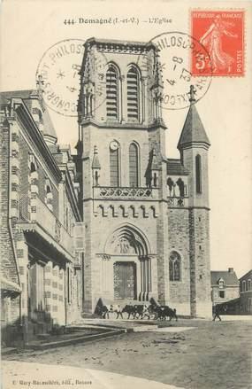 """CPA FRANCE 35 """"Domagné, l'église"""""""
