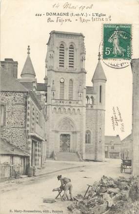 """CPA FRANCE 35 """"Domagné, l'église """""""