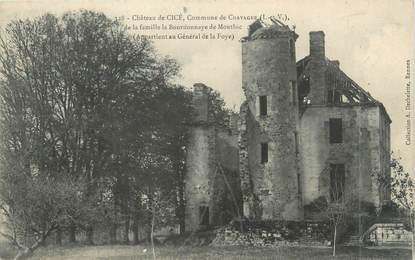 """CPA FRANCE 35 """"Château de Cicé"""""""
