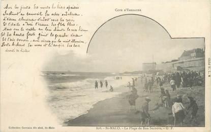 """CPA FRANCE 35 """"Saint Malo, la plage de Bon secours"""""""