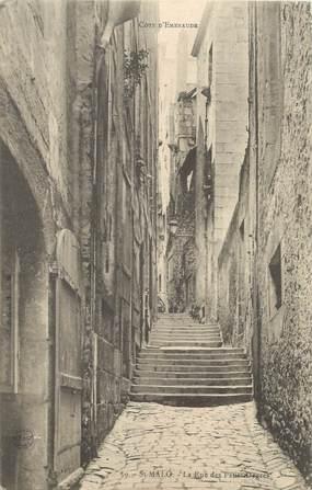 """CPA FRANCE 35 """"Saint Malo, rue des Petits Degrés"""""""