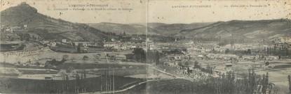 """CPA PANORAMIQUE FRANCE 12 """"Espalion, panorama et ruine du château de Calmont"""""""