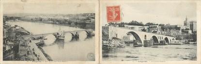 """CPA LIVRET FRANCE 84 """"Avignon, vue sur le pont Saint Bénézet"""""""
