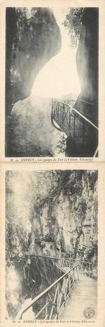 """CPA LIVRET FRANCE 74 """"Annecy, les gorges du Fier"""""""