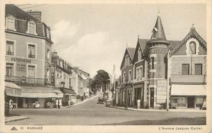 """CPA FRANCE 35 """"Paramé, l'avenue Jacques Cartier"""""""