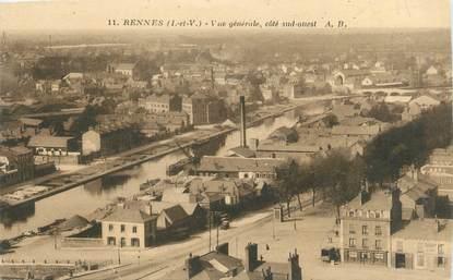 """CPA FRANCE 35 """"Rennes, vue générale"""""""