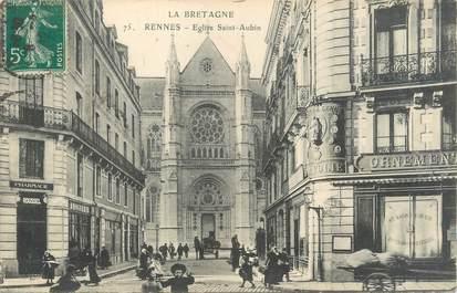 "CPA FRANCE 35 ""Rennes, église Saint Aubin"""