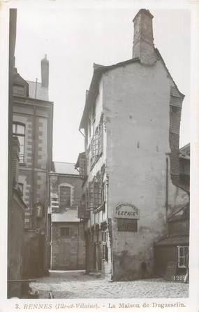 """CPA FRANCE 35 """"Rennes, la maison de Duguesclin"""""""