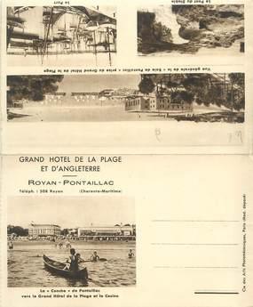 """CPSM LIVRET FRANCE 17 """"Royan Pontaillac, grand hôtel de la plage"""""""