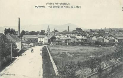 """CPA FRANCE 38 """"Moirans, vue générale et avenue de la gare"""""""
