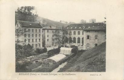 """CPA FRANCE 38 """"Renage, grande fabrique, la Guillonière"""""""
