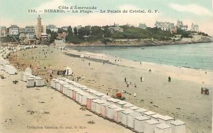"""CPA FRANCE 35 """"Dinard, la plage, le palais de Cristal"""""""