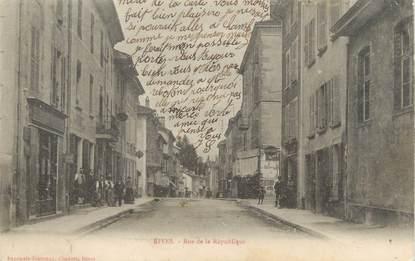 """CPA FRANCE 38 """"Rives, rue de la République """""""