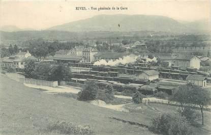 """CPA FRANCE 38 """"Rives, vue générale de la gare"""""""