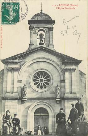 """CPA FRANCE 26 """"Roussas, L'Eglise paroissiale"""""""