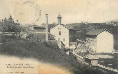 """CPA FRANCE 38 """"Saint Blaise du Buis, la Ravignhouse, usines Bruny"""""""