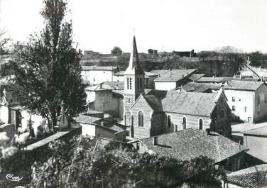 """CPSM FRANCE 38 """"Auberives sur Vareze, l'église et vue générale"""""""