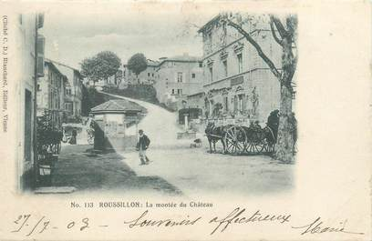 """CPA FRANCE 38 """"Roussillon, La montée du château """""""