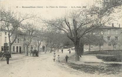 """CPA FRANCE 38 """"Roussillon, la place du château"""""""