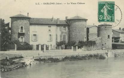 """CPA FRANCE 38 """"Sablons, le vieux Château"""""""