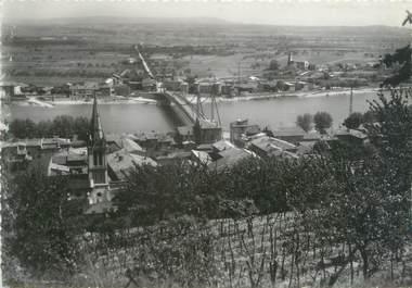 """CPSM FRANCE 38 """"La vallée du Rhône à Serrières et Sablons"""""""