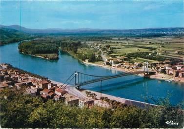"""CPSM FRANCE 38 """"Sablons, vue générale et le pont sur le Rhône"""""""