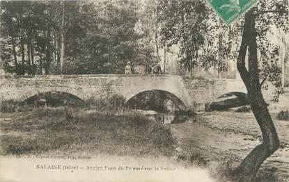 """CPA FRANCE 38 """"Salaise, ancien pont du prieuré sur la Sanne"""""""