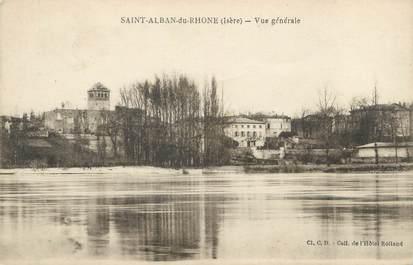 "CPA FRANCE 38 ""Saint Alban du Rhône, vue générale """