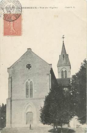 """CPA FRANCE 38 """"Bressieux, vue de l'église"""""""