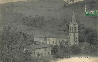 """CPA FRANCE 38 """"La Forteresse, la mairie et l'église"""""""