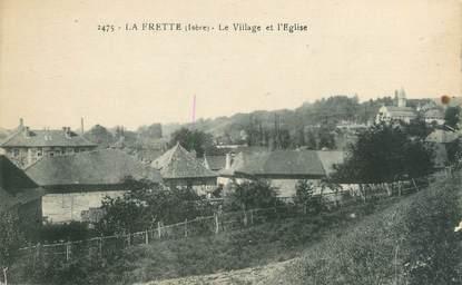"""CPA FRANCE 38 """"La Frette, le village et l'église"""""""