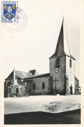 """CPSM FRANCE 42 """"Saint Martin d'Estréaux, l'église et le monument"""""""