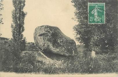 "CPA FRANCE 42 ""Saint Didier sur Rochefort, la pierre branlante"""