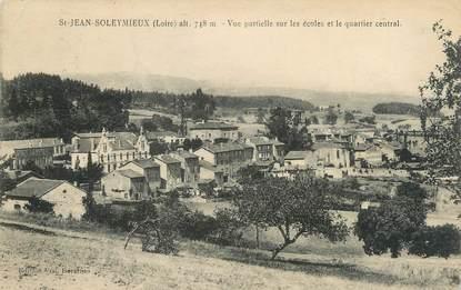 """CPA FRANCE 42 """"Saint Jean Soleymieux, vue partielle sur les écoles et le quartier central"""""""