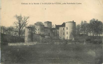 """CPA FRANCE 42 """"Saint Julien la Vêtre, château de la Merlée"""""""