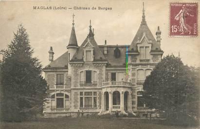 """CPA FRANCE 42 """"Maclas, château de Barges"""""""