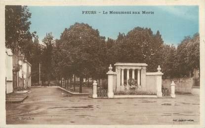 """CPA FRANCE 42 """"Feurs, le monument aux morts"""""""